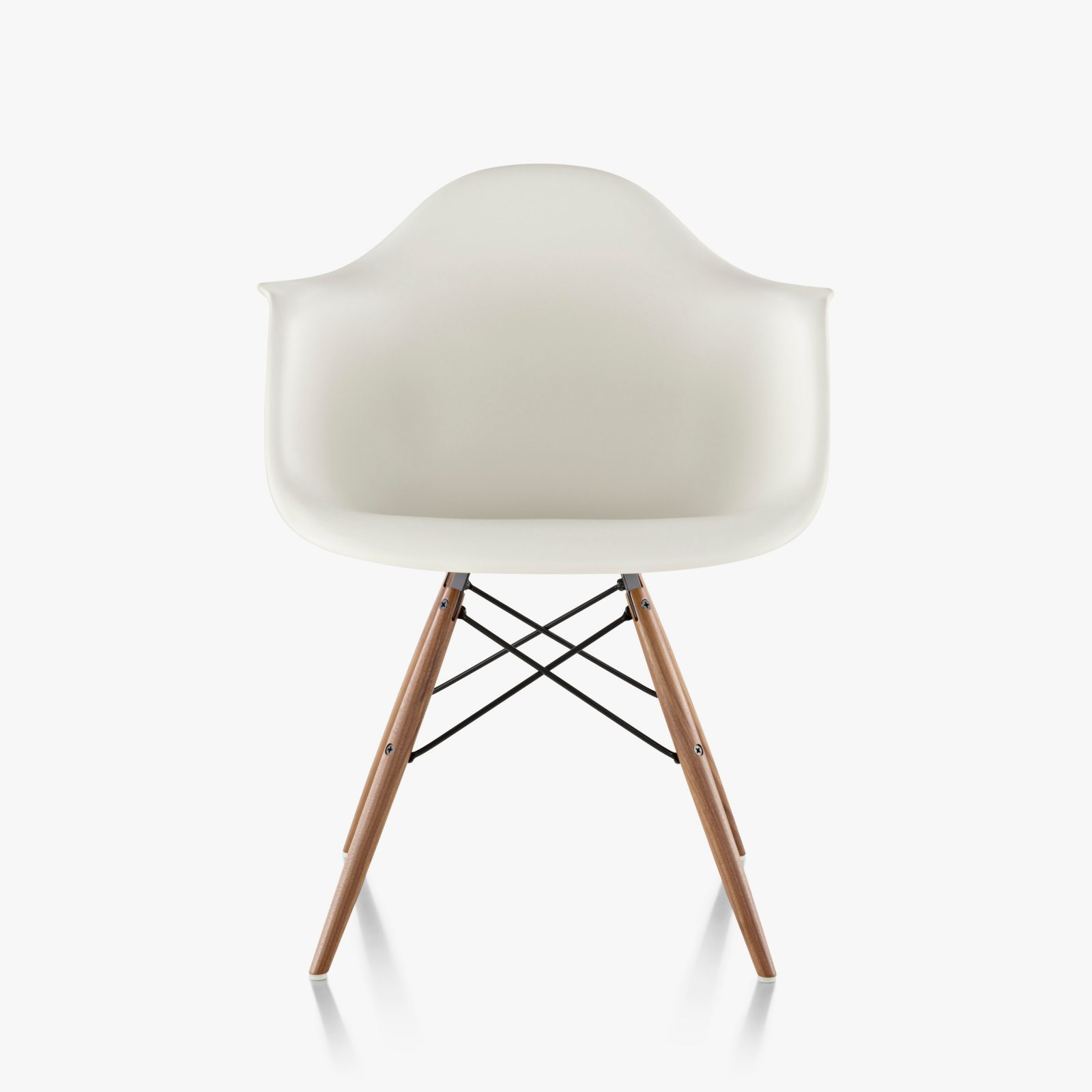 eames molded plastic armchair dowel base by charles ray eames for herman miller up interiors. Black Bedroom Furniture Sets. Home Design Ideas