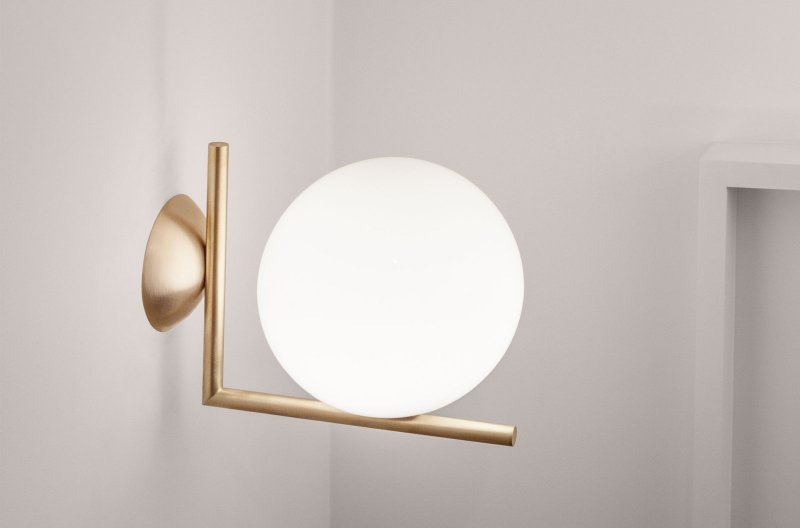 IC Lights ceiling or wall lamp, brass.