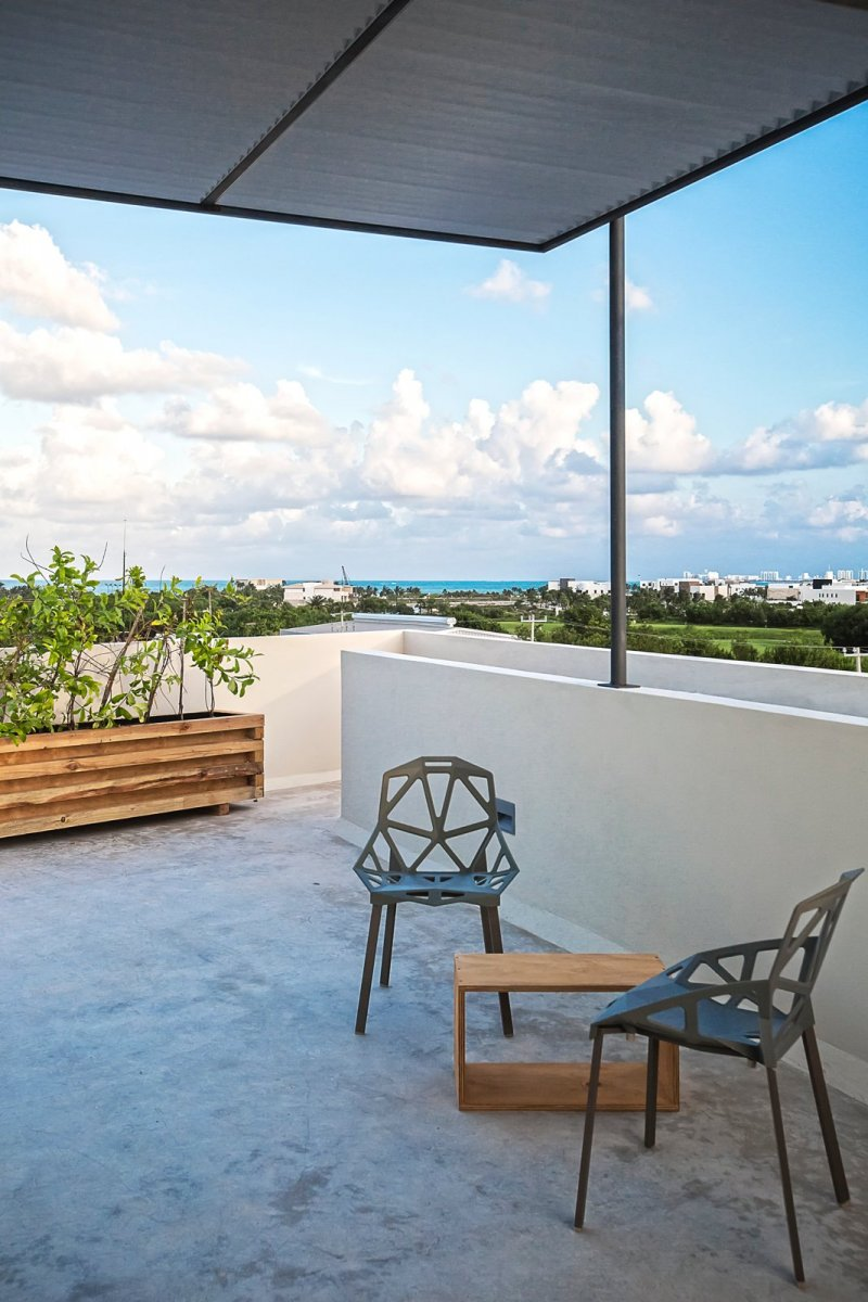 Covered roof terrace. Donceles Studios by JC Arquitectura and O'Gorman & Hagerman Abogados
