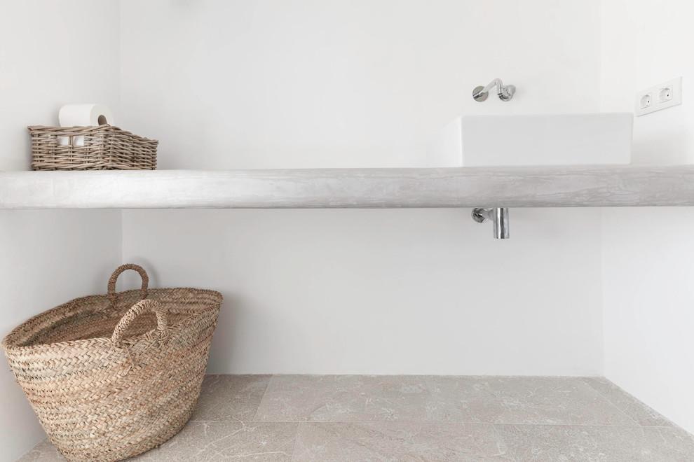 Concrete Countertop With Vessel Sink Felanitx Renovation By Munarq