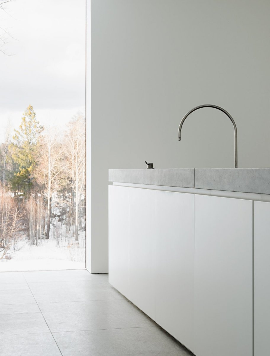 Modern block kitchen. Palmgren House by John Pawson