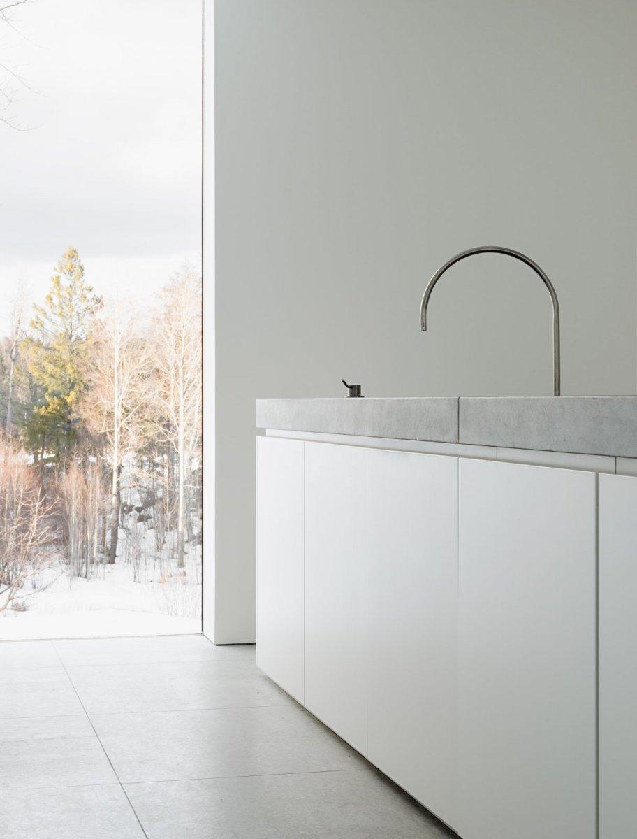 Modern block kitchen. Palmgren House by John Pawson