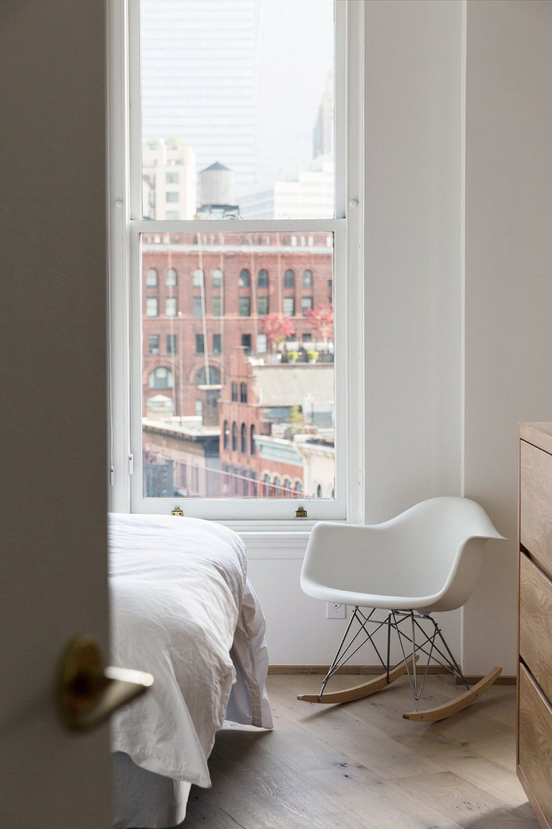 Bedroom details. New York Loft by Dieter Vander Velpen Architects
